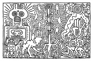 coloriage-keith-haring-2 free to print