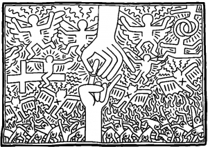 coloriage-keith-haring-3