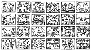 coloriage-keith-haring-4 free to print