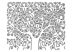 coloriage-keith-haring-6