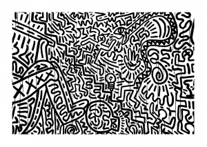 coloriage-keith-haring-8 free to print