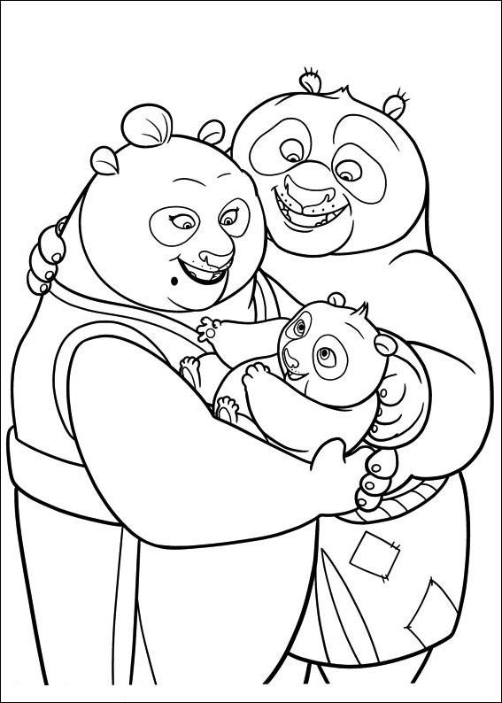 Papa et maman Panda avec Po
