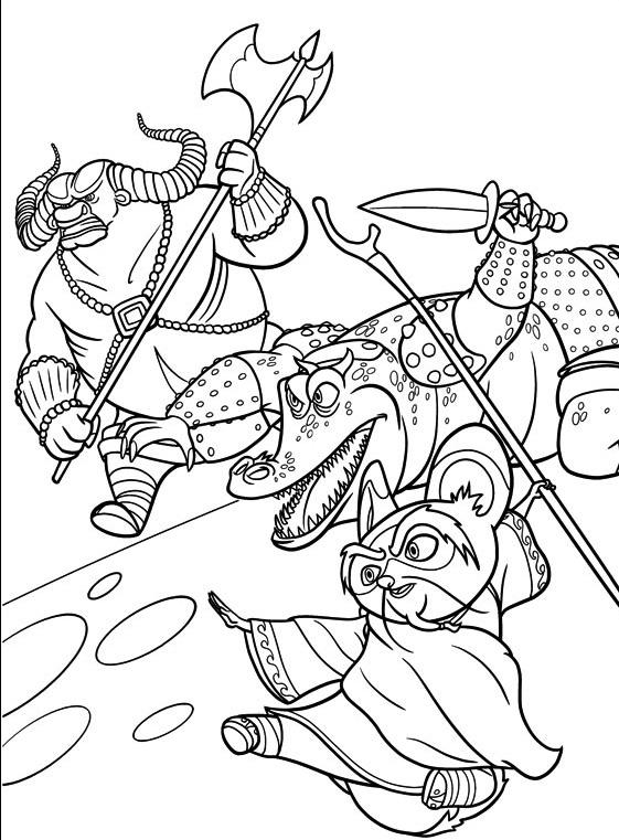 Kung fu panda 9 coloriage kung fu panda coloriages pour enfants - Panda coloriage ...
