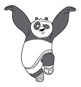 Coloriage kung fu panda coloriages pour enfants - Dessin kung fu panda ...