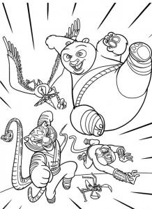 Dessin de Kung Fu Panda gratuit à télécharger et colorier