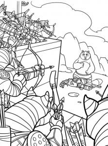 Coloriage de Kung Fu Panda à imprimer pour enfants