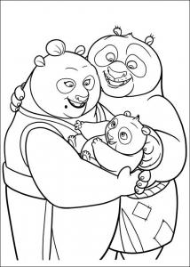 Coloriage de Kung Fu Panda à imprimer