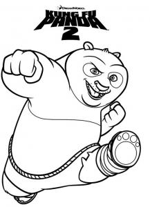 coloriage kung fu panda 7