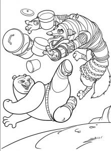 Dessin de Kung Fu Panda gratuit à imprimer et colorier