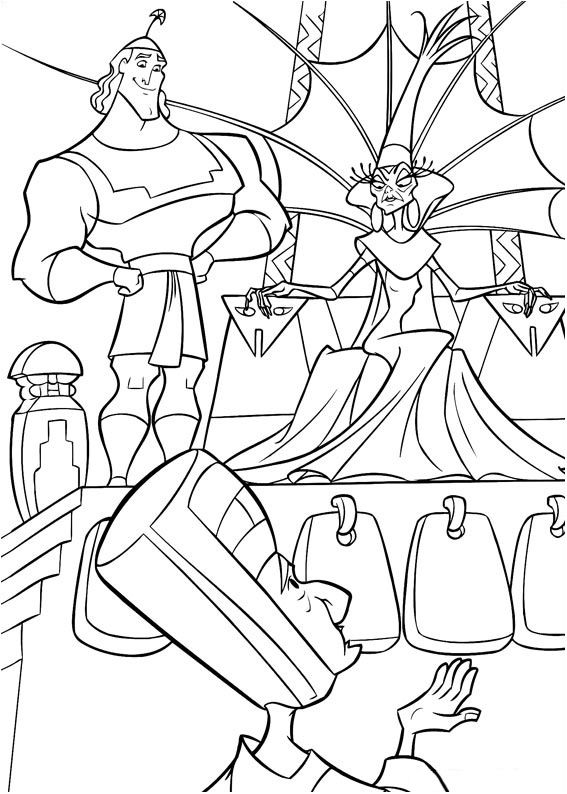 Kuzco 4275 coloriage kuzco l 39 empereur megalo coloriages pour enfants - Kuzco dessin anime ...