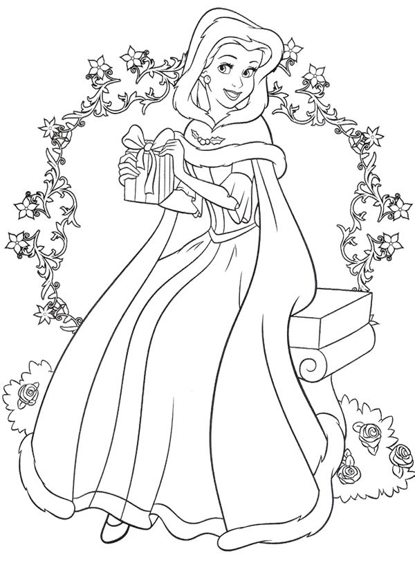 Colorear Princesas Bella Coloriage La Belle Et La Bête