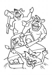 Coloriage de La Ferme en folie à imprimer pour enfants