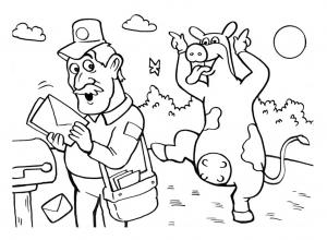 Coloriage de La Ferme en folie pour enfants