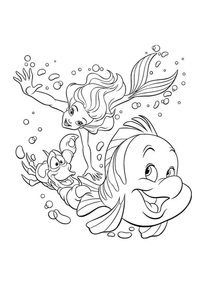 Ariel petite sirene disney 6 coloriage la petite sir ne - Coloriage princesse ariel ...