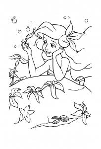 La jolie Ariel, à colorier