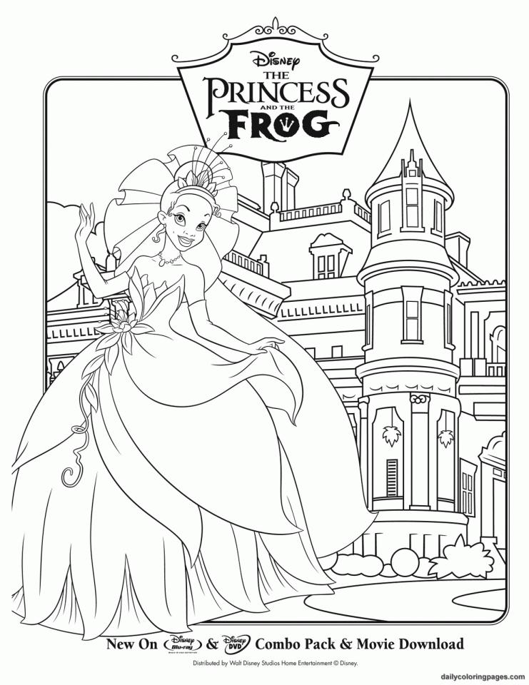 Princess grenouille 2 coloriage la princesse et la - Grenouille a colorier ...