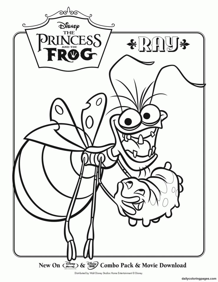 Princess grenouille 3 coloriage la princesse et la grenouille coloriages pour enfants - Coloriage la princesse et la grenouille ...