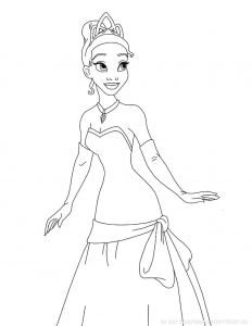 coloriage-princess-grenouille-1 free to print