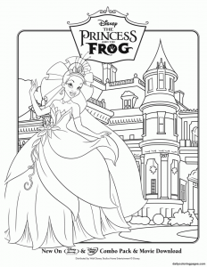coloriage-princess-grenouille-2 free to print