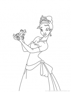 coloriage-princess-grenouille-3 free to print