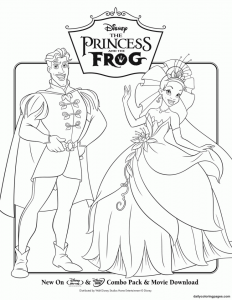 coloriage-princess-grenouille-4 free to print