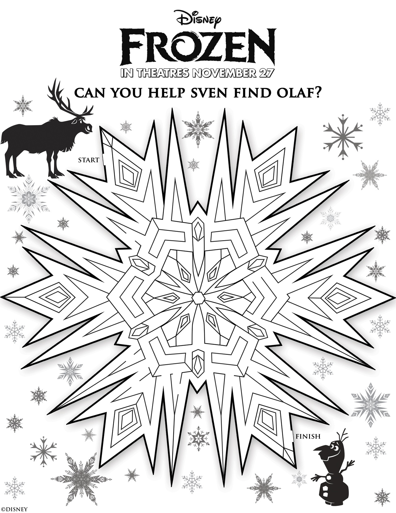 coloriage la reine de glace 1 free to print