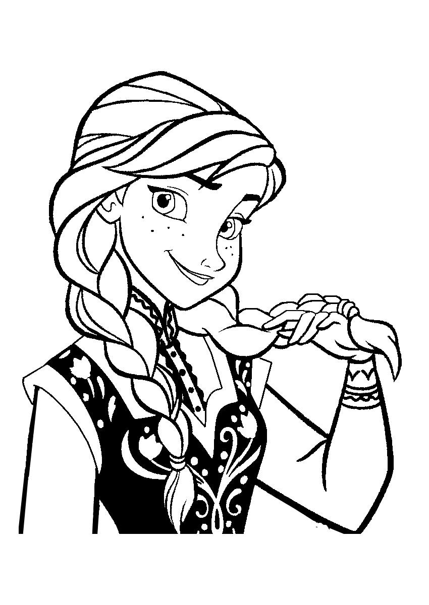 La Reine Des Neiges Anna 4 Coloriage La Reine Des Neiges