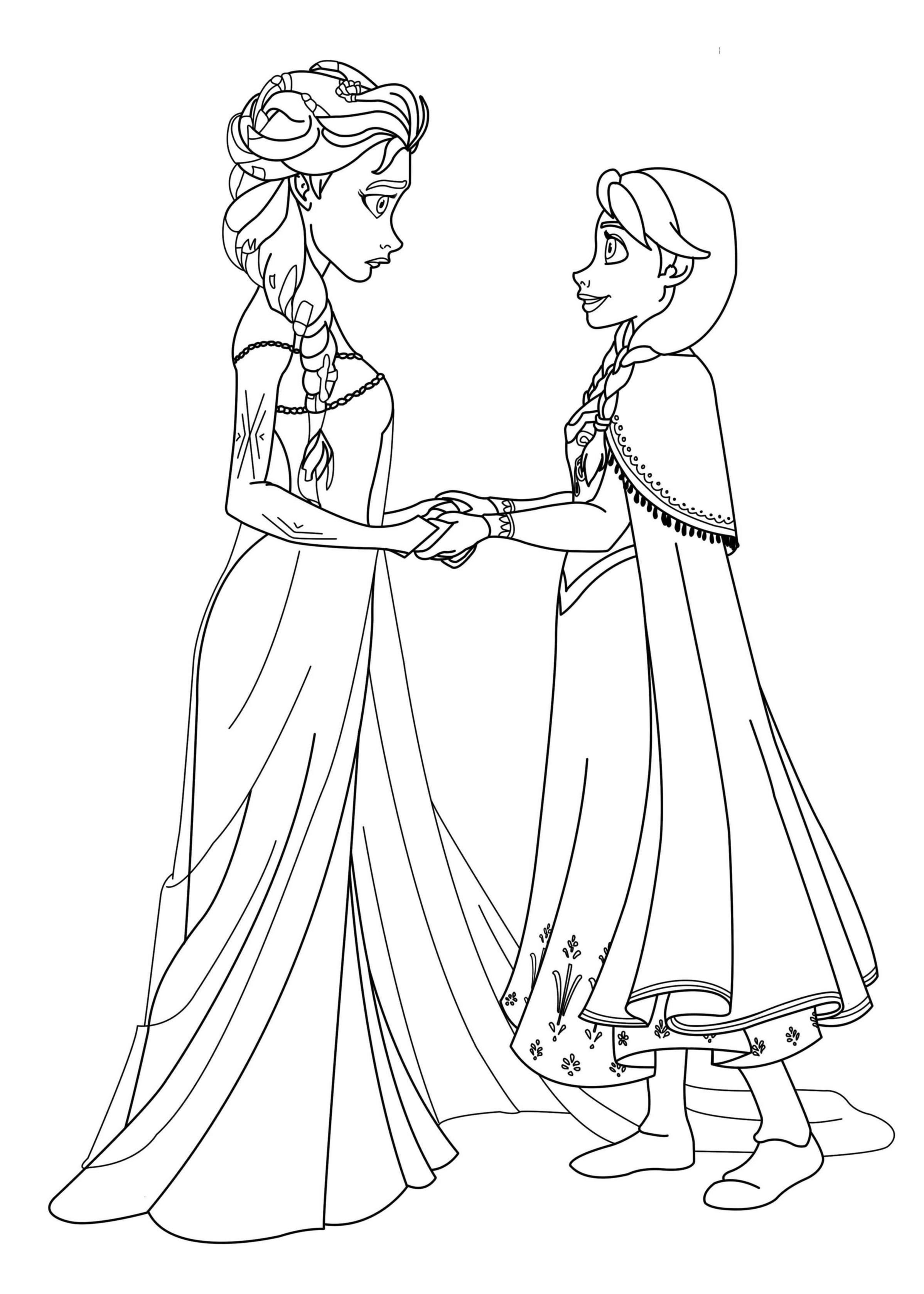 Coloriages des personnages de la reine des neiges coloriage la reine des neiges coloriages - Coloriage princesse des neiges ...
