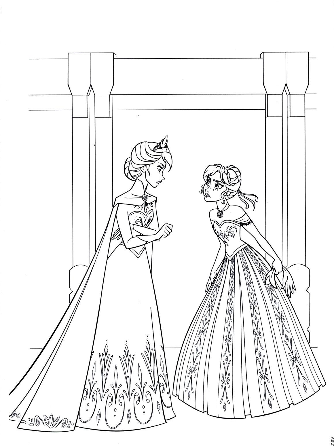 La reine des neiges disney 10 coloriage la reine des neiges coloriages pour enfants - Dessin a imprimer la reine des neiges ...