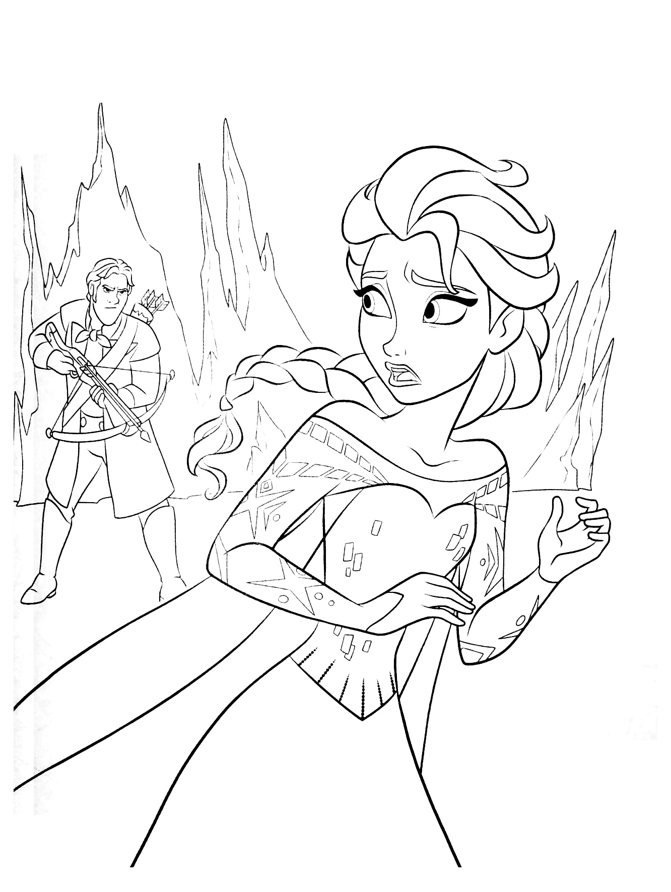 La reine des neiges disney 18 coloriage la reine des - Reine coloriage ...