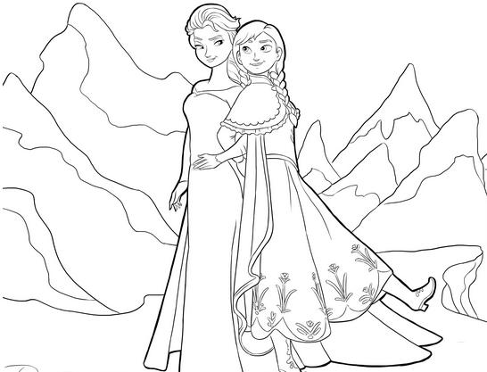 coloriage la reine des neiges disney 2 free to print