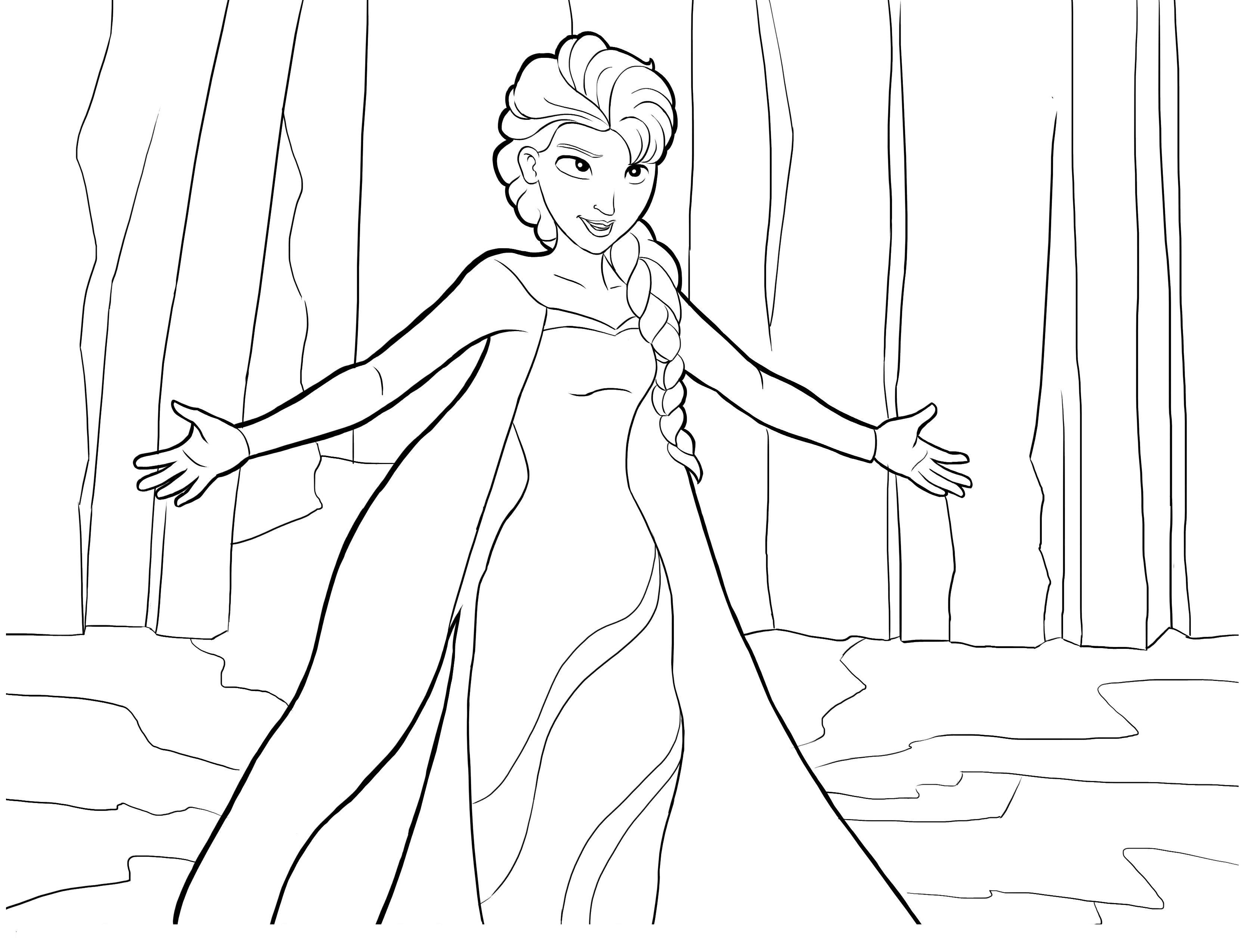 La Reine Des Neiges Elsa Coloriage La Reine Des Neiges Coloriages Pour Enfants