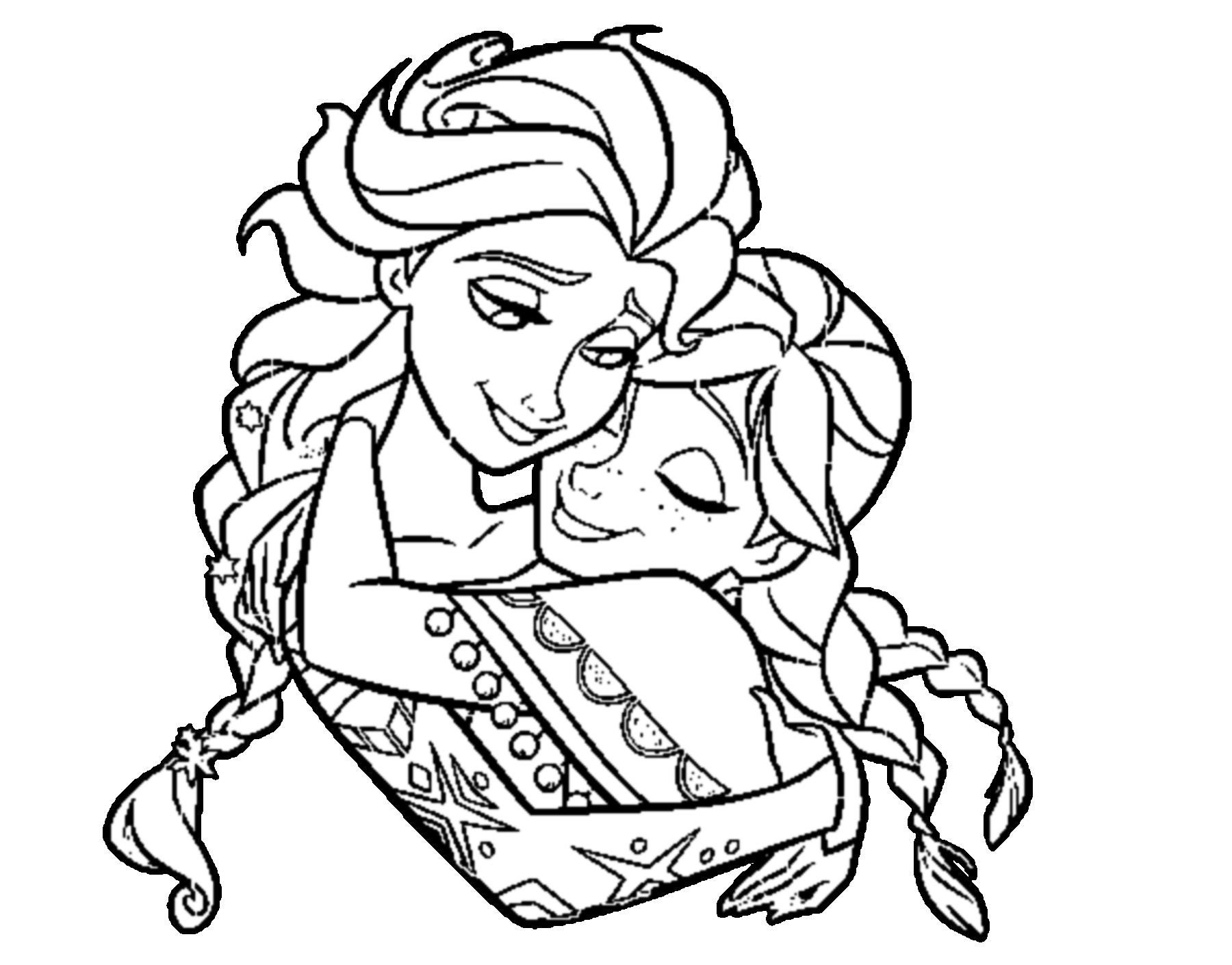 reine des neiges anna et elsa gros plan - Dessin Elsa