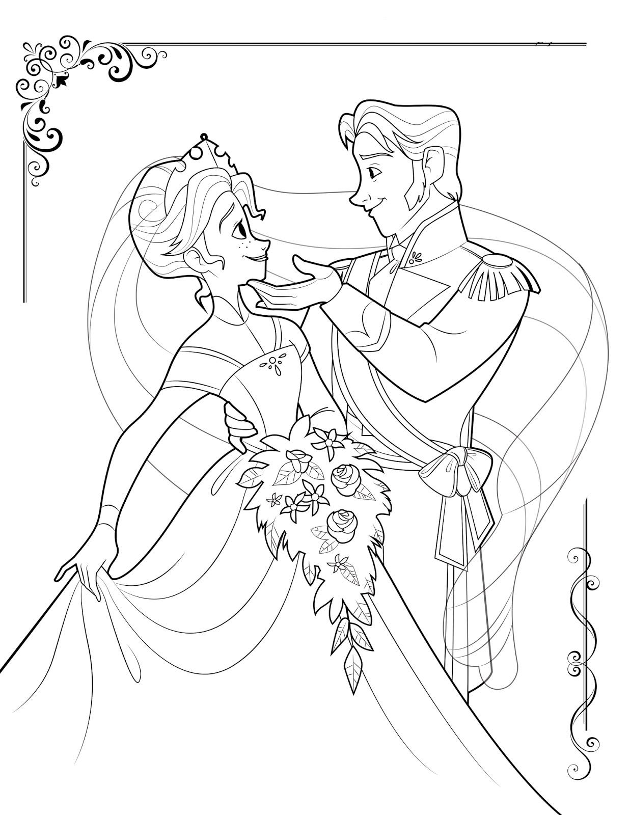 Reine Des Neiges Elsa Et Hans Dansant Coloriage La Reine Des