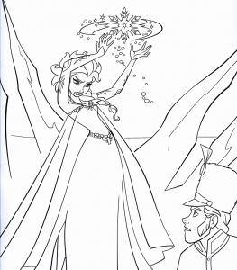 Coloriage la reine de glace 6