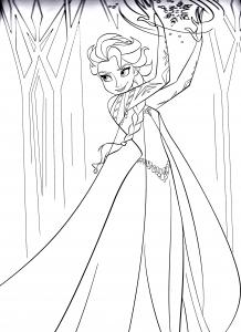 Coloriage la reine de glace 7