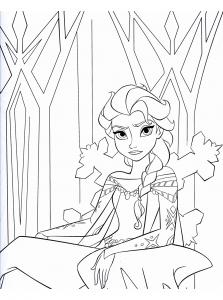 Coloriage la reine de glace 8