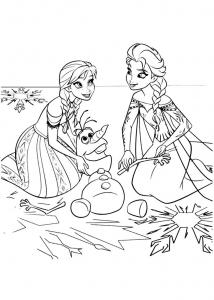 Coloriage la reine des neiges anna elsa