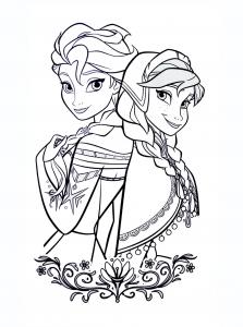 Coloriage la reine des neiges disney 1