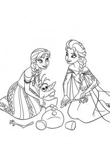 Coloriage la reine des neiges disney 14