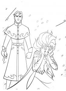 Coloriage la reine des neiges disney 16