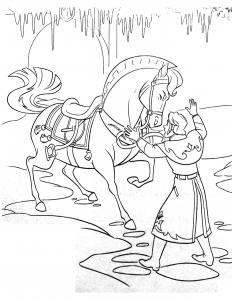 Coloriage la reine des neiges disney 19