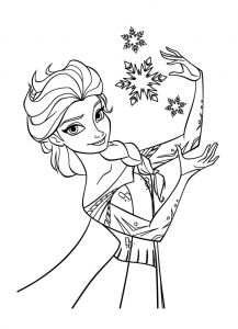 Coloriage la reine des neiges disney 6