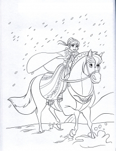 Coloriage la reine des neiges disney 8