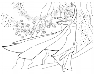 coloriage-la-reine-des-neiges-elsa-2 free to print