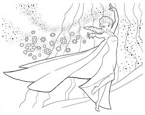 Coloriage la reine des neiges elsa 2