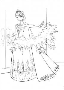 Coloriage la reine des neiges elsa 3