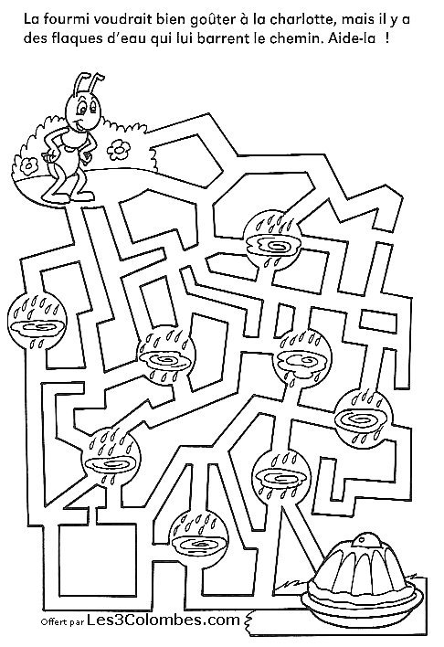 Jeu Coloriage Labyrinthe Labyrinthes A Colorier Coloriages Pour Enfants