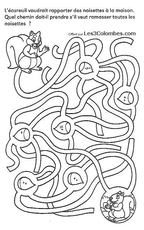Jeu coloriage labyrinthe labyrinthes colorier - Jeux labyrinthe a imprimer ...