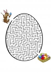 Jeu coloriage labyrinthe